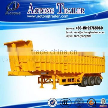 used 2/3 Axles Hyva Hydraulic Cylinder Rear Dump Truck Semi Trailer\tipper trailer/tipping semi trailer