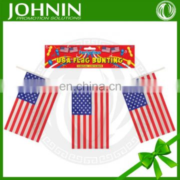 2016 factory selling cheap wholesale customized logo square bunting