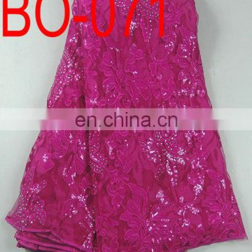 African beaded sequined lace fabric(BO-066)