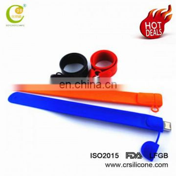 Custom Usb2.0 3.0 Christmas Gift Present Silicone Wristband/Convenient Bracelet Usb Flash Drive