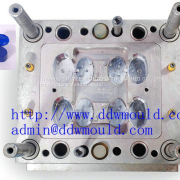 DDW 4CAV Plastic Flip Cap Mold with hot runner exported to Mexico