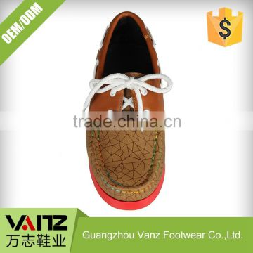 Lace Up Boy Fashion Smooth Tailored Pu Leisure Boat Shoes