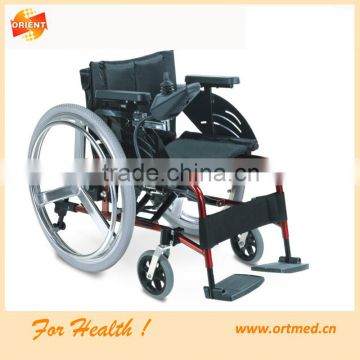 Foldable Electric Steel or Aluminum Wheelchair