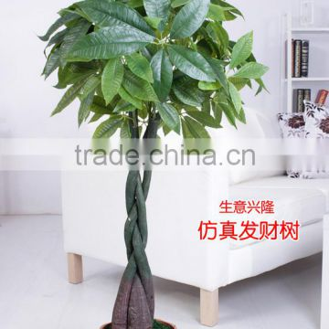 Guanghzou high simulation indoor & outdoor artifcial pachira macrocarpa tree