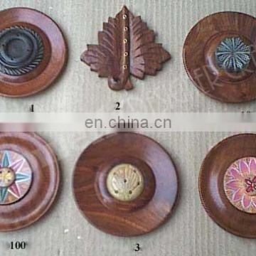 WOOD INCENSE STICK HOLDER PLATE