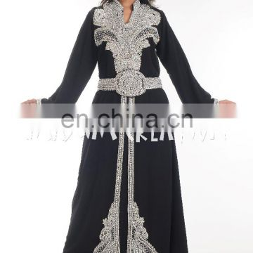 ELEGANT MODERN ARABIAN ISLAMIC WEDDING GOWN FANCY JILBAB THOBE DRESS