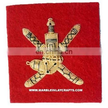 Zari Hand Embroidery Army Badges