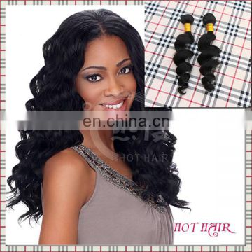 New 2014 christmas promotion top grade cheap 100% unprocessed brazilian peruvian malaysian loose wave human hair extensions