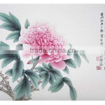 2015 hot sale wholesale peony house verisimilar handmade painting manufacture in China