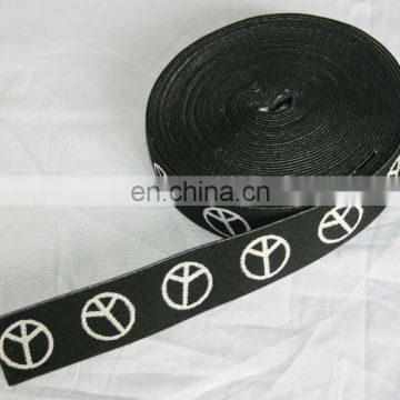 Paypal accepted Eco-friendly Black white woven prainted cotton webbing
