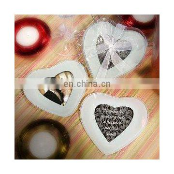 Heart Shaped Photo Coaster Favors