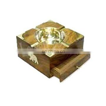 WOODEN ASHTRAY HOUSE CAR GIFT HOLDER