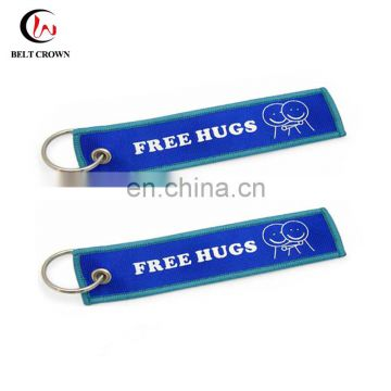 Make your own brand custom promotional embroidered keychain with logo