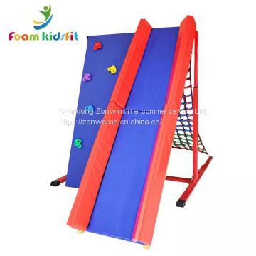 Kids  indoor playground equipment climbing  fram with sliding toys
