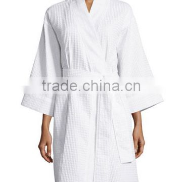 Wholesale Cheap Sexy Classical Style Women White Homme Hotel Waffle Bathrobe