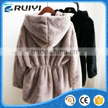 Korean stylish cashmere artificial fur coat for women