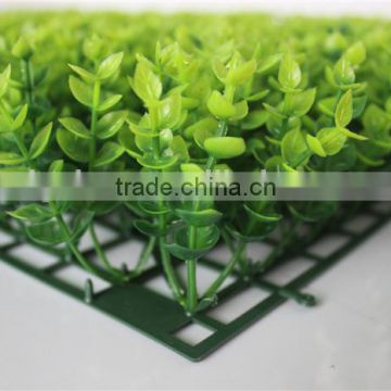 highly ornamental artificial green hedge for wall decor