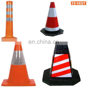 Alibaba Supplier High Quality Henna White 450mm With Reflective Tape Used Traffic Cones