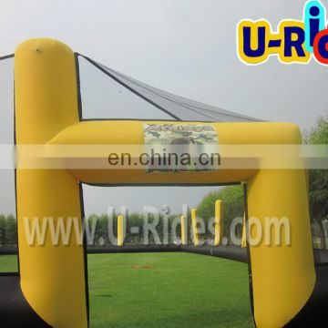 Inflatable paintball netting