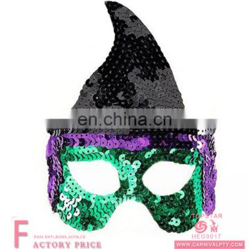 Fashion Halloween Adult Wicked Witch sequin Masks Scary Halloween Party Fancy Dress