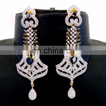 Wholesale Bollywood Style CZ Jewellery-American Diamond Earring-2016 cubic zirconia Earring-Party wear earring-cz Dangle earring