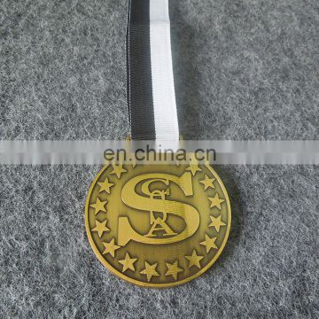 antique plated zinc alloy championship sports medal medallion