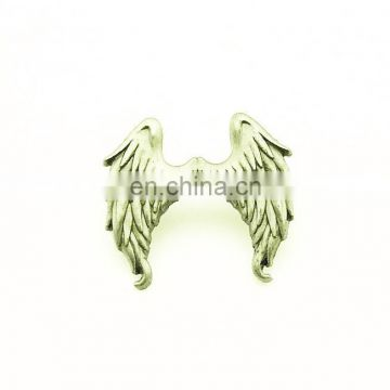 Religion Customized Design 3D ZINC ALLOY SILVER WING Customer Request LAPEL PIN
