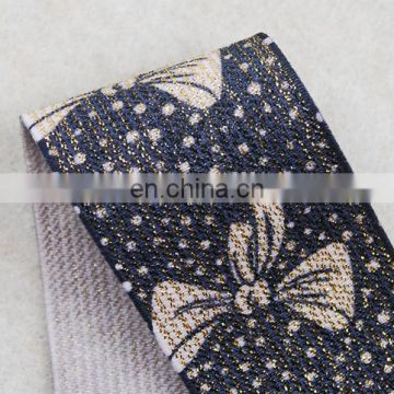 Italy design fashion lurex bowknot elastic tape for garments