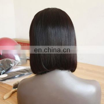 Best quality pop bob wig full lace human hair wig with baby hair