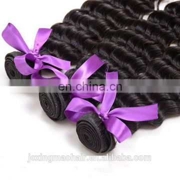 8A 100% human hair virgin peruvian deep wave hair wholesale hair bundle
