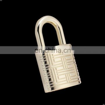 Song A SA3999 light gold color customized engraved letters handbags lock, customized lock with key