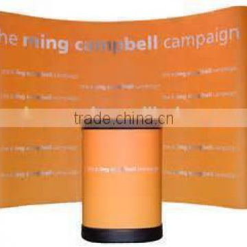 curved pop up display system