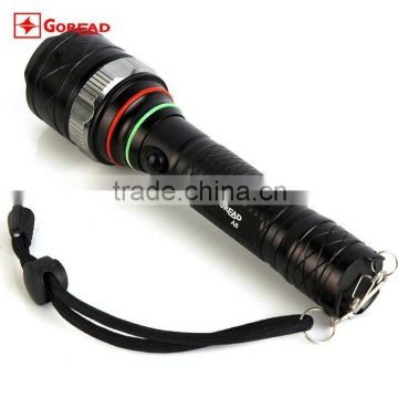 GOREAD A6 aluminum focusabe and dimmable T6 5 mode 18650 rechargeable torch light