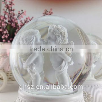 alibaba express resin angel baby crystal ball with light