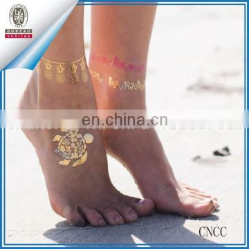 Temporary Metallic Flash Transfer Tattoo Inspire Body Makeup Sticker Removeable