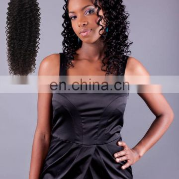 No shedding 100% Human Best sale TOP quality Virgin remy extension hair with rubber band