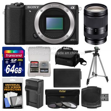 Cheap Sony Alpha A5100 HD Wi-Fi Digital Camera Body Black Kit w/18-200mm Lens