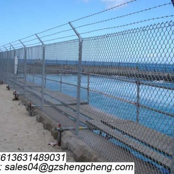 Galvanized border field fence anti climb crash farm fence
