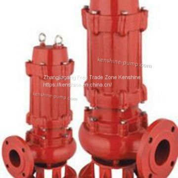 WQB explosion proof type submersible sewage pump not clogging pump