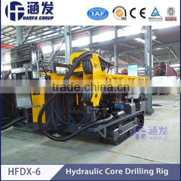 Full hydraulic system!Best sell!HFDX-6 full hydraulic crawler type core drilling equipment