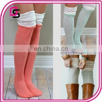 Hot Selling Women socks Colorful Lace Hollow over the knee socks In stock