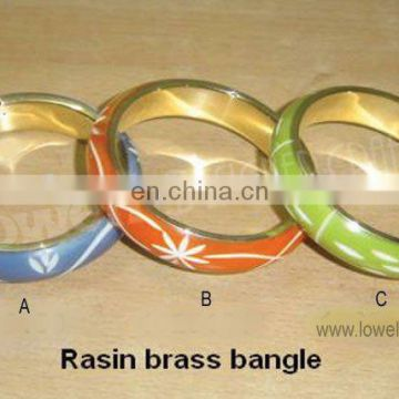 RESIN BRASS BANGLE/METAL BASE RESIN BANGLE