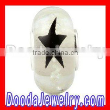 Painted Star Glass Art Beads Wholesale SG2159
