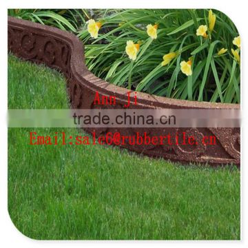 garden edge tile rubber border,Flexible Garden Edging Border,stylish