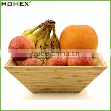Square Shape Bamboo Salad Bowl/Kitchen Fruit Serving Bowl/Homex_FSC/BSCI Factory