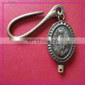 hot sale & high quality metal badge reel with epoxy sticker logo