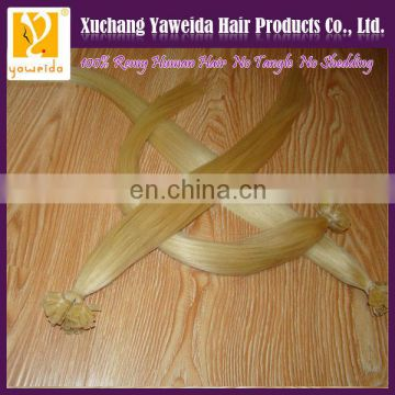 Good Feedback 100% russian raw material flat tip hair factory wholesale alibaba hair