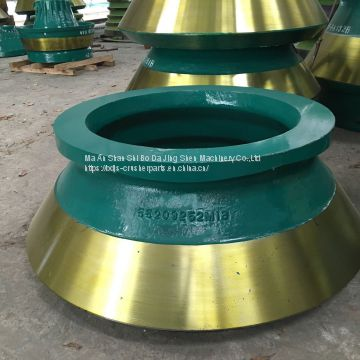 High Manganese Steel Metso Cone Crusher Wear Spare Parts HP4 HP5 HP6 Mantle and Bowl liner