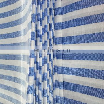 hot sale color stripe polyethylene tarpaulin,sunshade pe sheet