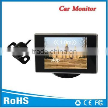 "Car reverse camera and monitor system , 3.5"" inch display with mini camera, CE and FCC certificate, easy install"